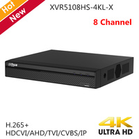 Dahua New 8 Channel XVR video recorder XVR5108HS 4KL X H.265 4k resolution Supports HDCVI AHD TVI CVBS IP video inputs for CCTV