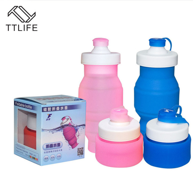 5a1df2dc2e TTLIFE New Portable Silicone Water Bottle Folding Bottle Travel Outdoor  Hiking Sport Collapsible Silicone Water Bottles BPA Free