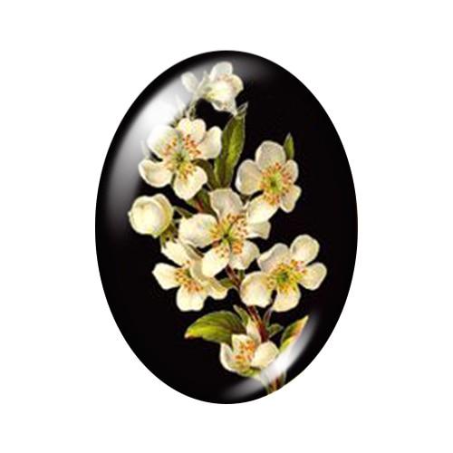Красивые Винтажные Цветы Роза Маргаритка 10 шт. 13x18 мм/18x25 мм/30x40 мм овальные фото стекло кабошон демонстрационная плоская задняя часть изготовление TB0043 - Цвет: I