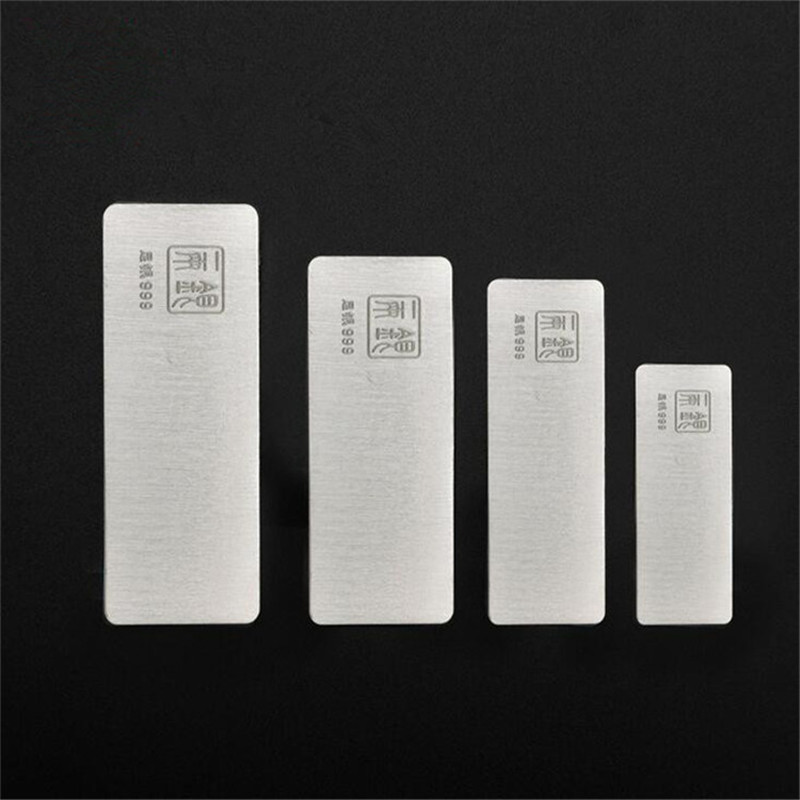 10G 20G 50G 100G 999 Sterling Silver Bar Fine Jewelry Real Pure Raw Material To Make Investment