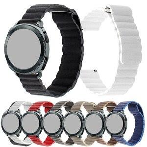 Быстросъемный ремешок для часов из натуральной кожи с магнитной петлей, универсальный ремешок 20 мм, 22 мм для часов Garmin Active, ремешок для SUUNTO 3, ...
