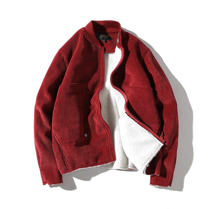 Drop shipping Hommes D'hiver Veste Manteaux Casual Laine D'agneau Veste Hommes Velours Épais Chaud veste Manteaux Outwear ABZ88