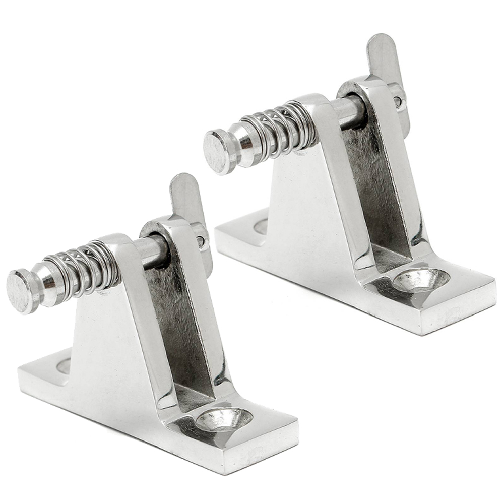 2PCS Deck Hinge Boat Bimini Top Fitting 90 Degree Pin Stainless Steel Accessory Boat Parts Marine Hardware