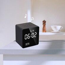 Bluetooth динамик карта часы двойной будильник звук FM мини сабвуфер Отображение времени Bluetooth Радио украшение светодиодный дисплей A10991