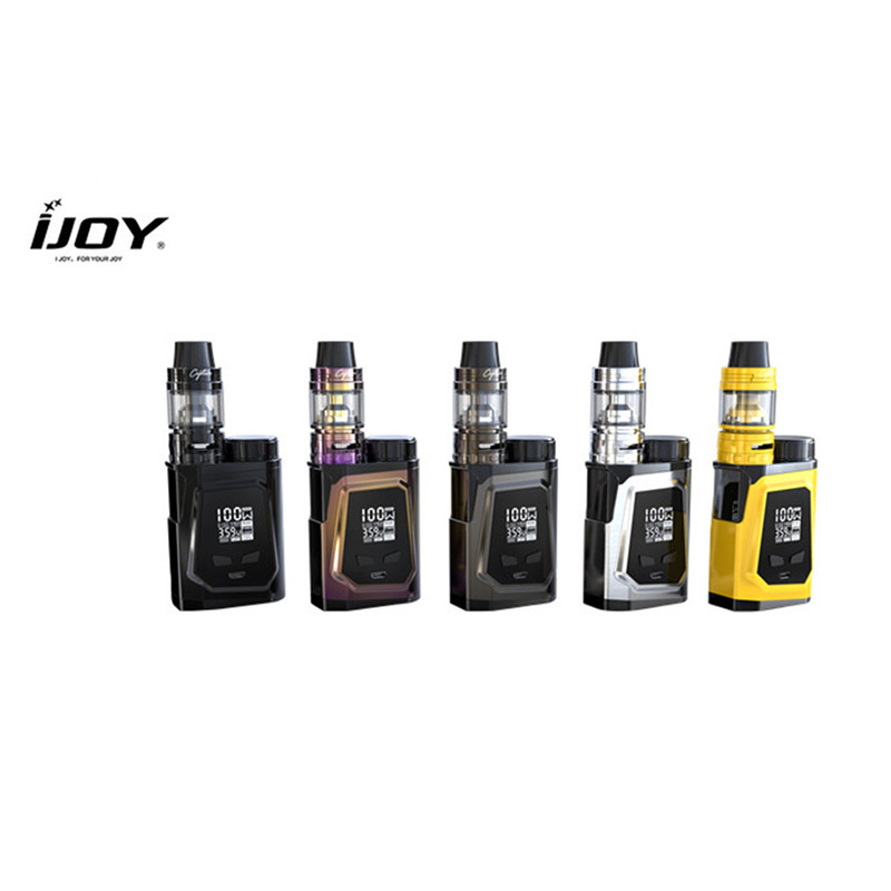 Original IJOY Mini Vape Electronic Cigarette Kit 100W 3000mAh Battery 2ml Atomizer Tank E cigarette Mod VW RDTA Vaporizer