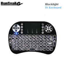 2017 NewI8 Blacklight Mini Wireless Keyboard 2.4GHz Air Mouse Remote Control Gaming Touchpad for Android TV BOX Laptop Smart TV