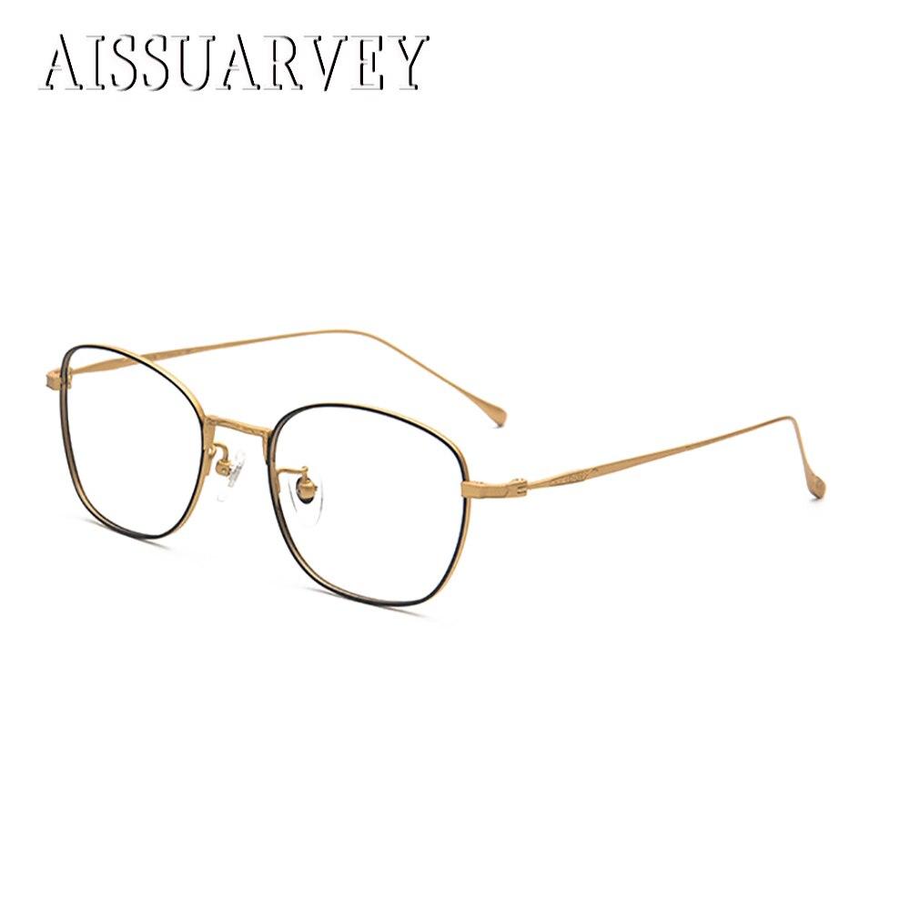 Retro Glasses Frames Pure Titanium Square Optical Eyeglasses Prescription Fashion Brand Designer Top Quality Eyewear Goggles