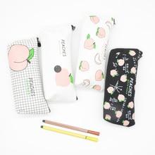 Pencil Case Fruit School Supplies Mesh Estuche Escolar Trousse Scolaire Stylo Estuches Para El Colegio Pencilcase Box Cute