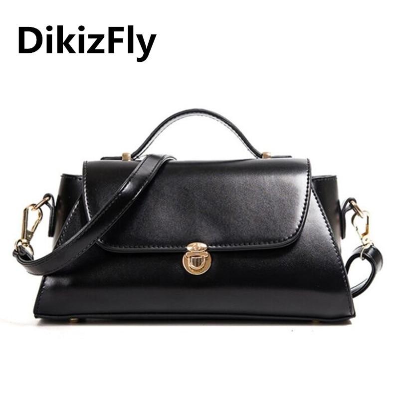 DikizFly KYHBYT03 Vintage lock luxury handbags women bags Fashion brand messenger bag totes shoulder bags casual bolsa feminina