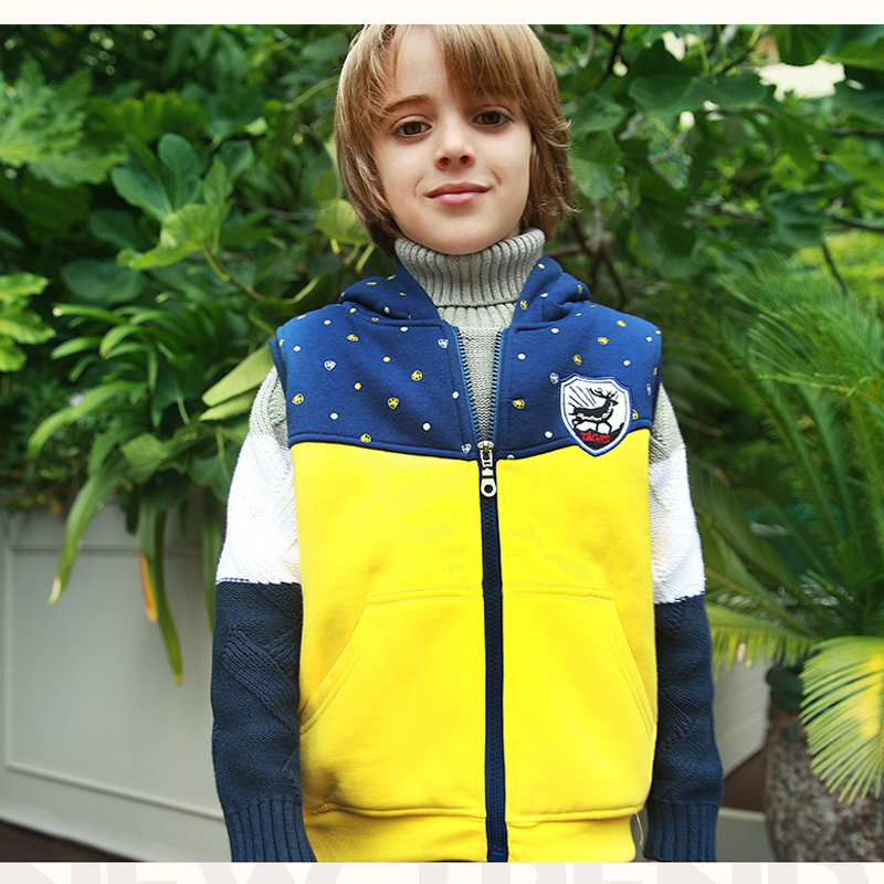 New Family Matching Clothes Autumn Winter Boys Girls Vest Coat Kids Thick Cotton-padded Warm Waistcoat Hooded Vests For Children 2017 new boys winter thick warm coat kids school hooded casual jacket kid snow outerwear down cotton padded winter coats clothes