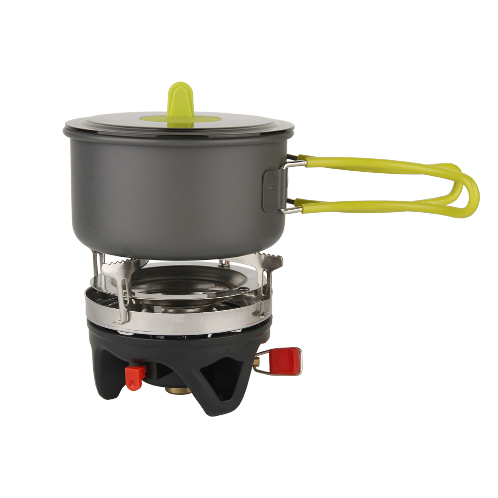 APG Camping ustensiles de cuisine bol Pot casserole vaisselle combinaison gaz système de cuisson cuisinière extérieure Portable cuisinière à gaz brûleurs au Propane - 3