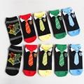 2017 Women Cartoon Anime Harry Potter Socks (5pairs/lot) Summer Men Kawaii Tie Ankle Socks Slipper Low Cut Floor socks Halloween