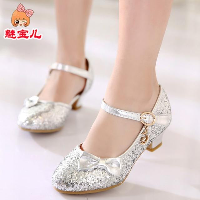 Girls  Princess shoes 2018 Spring   Summer shoes for Girls  High shoes 388cfb09de6b