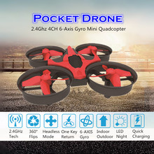 NH010 Mini Pocket Drone LED Light Nano RC Quadcopter Headless Mode Remote Control Helicopter Aircraft Toys for Kids VS H36