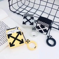 square Cartoon case for Airpods case  protection Cover Airpods Wireless Bluetooth Headset Colorful Headphone Case Lovely case
