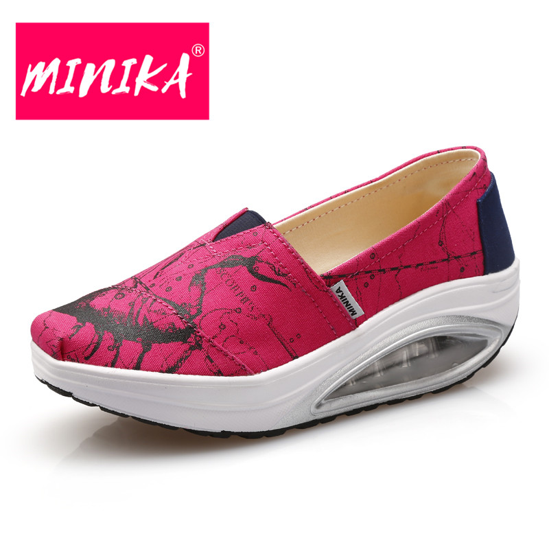 MINIKA New Designer Slip On Women Casual Shoes Shallow Mouth Moccasin Loafers For Women Platform Flats Shoes Women Comfort minika new arrival 2017 casual shoes women multicolor optional comfortable women flat shoes fashion patchwork platform shoes
