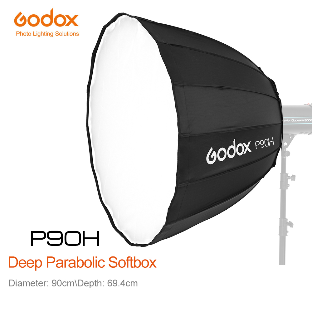Godox P90H 90CM 35 Parabolic Bowens Mount Softbox High temperature resistant metal for Professional Shooting Studio