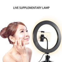 10.23 LED Ring Light with Stand Lighting Kit Phone Light for Youtube Live Makeup Phone Stand Cell Phone Holder Ring Light