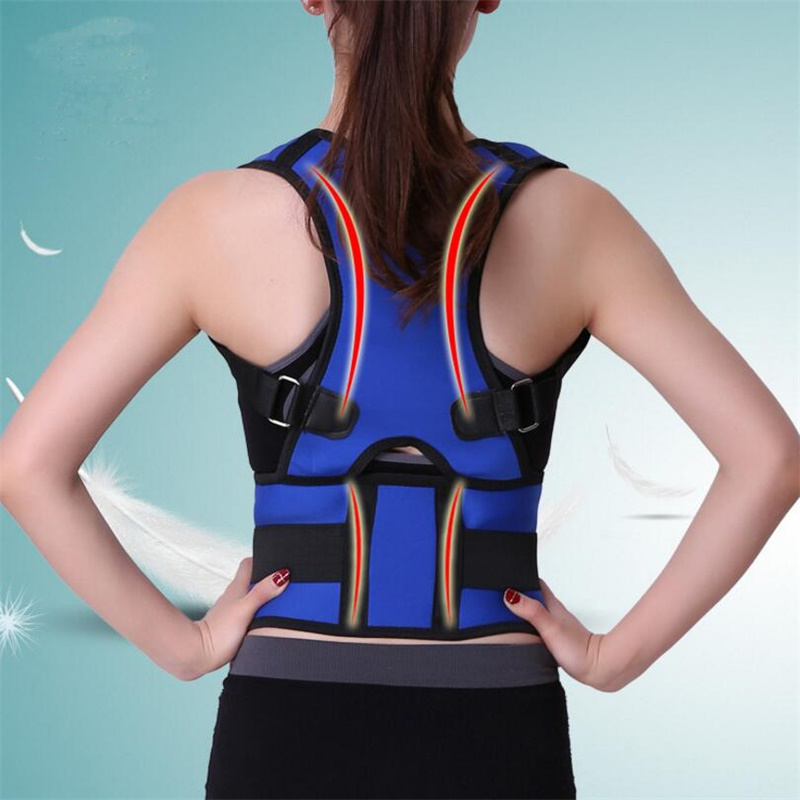 Adjustable Posture Corset for Women Men Back Brace Shoulder Brace Belt Neoprene Back Posture Corrector Back Support Belt B002 aibikang steel posture corrector back brace and adjustable double pull shoulder back support belt xxl 52 black