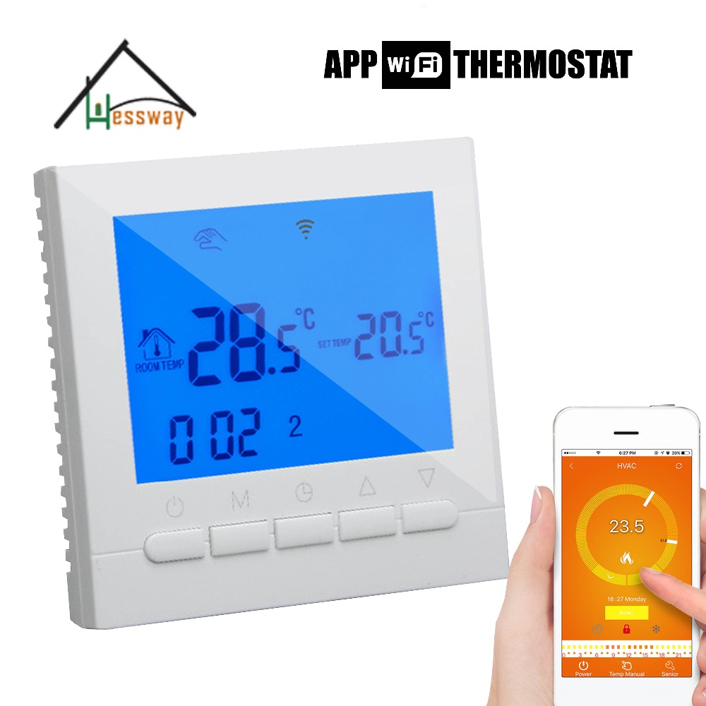 Istruzioni per l'uso inglese Russo wifi termostato caldaia a gas acqua di riscaldamento/radiatore valvola per Sistema A Pavimento Caldo