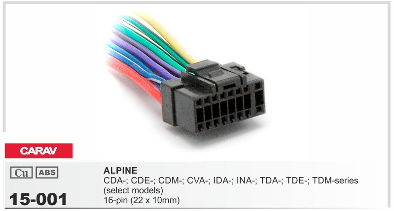 popular alpine harness buy cheap alpine harness lots from carav 15 001 top quality car iso harness for head unit cable for alpine