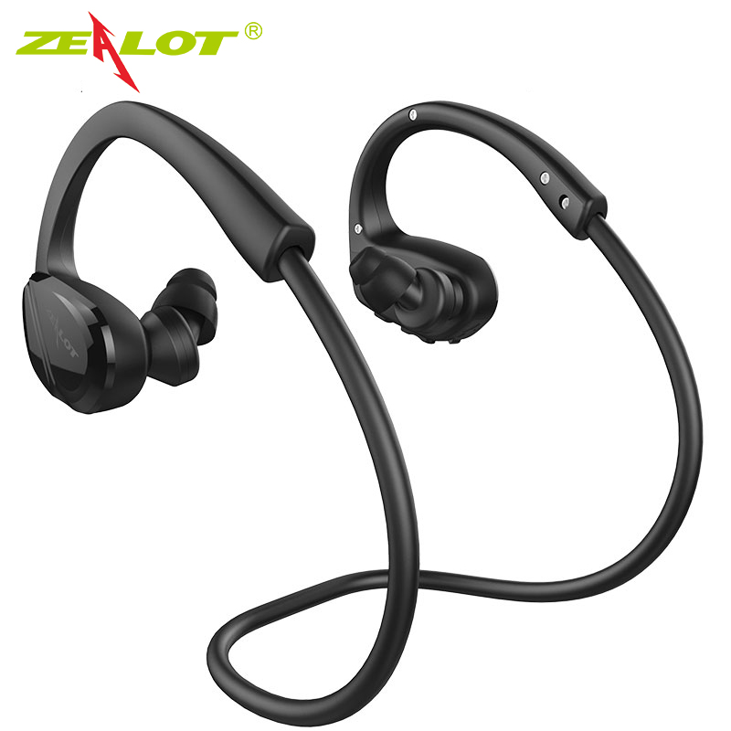 ZEALOT H6 Sports Wireless Earphone Stereo Bass Bluetooth Headphones with Microphone For Smartphone Running Headset ultra light wireless bluetooth stereo headphones earphone headset with microphone for android smartphone iphone7 6 6s tablet pc