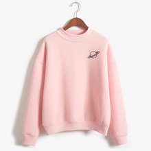 K-pop Planet Print Sweatshirt Tops Women Harajuku Graphic Hoodies Sweatshirts Schoolgirl Streetwear Japan Style Clothes