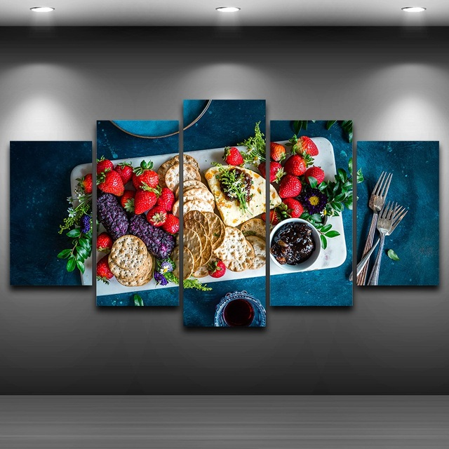 A Fresh Gourmet Breakfast Art Print Picture for Kitchen Wall Decor ...