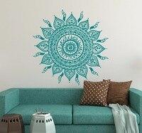 Большой размер Мандала Цветы yoga стикер домашнего декора гостиной орнамент марокканский узор Намасте цветок лотоса наклейка A756