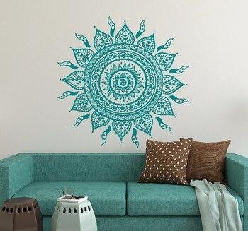 Sticker mural décor mandala solaire