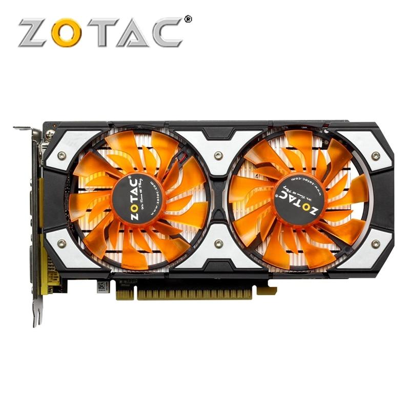 Placa de vídeo zotac gtx 750ti-2gd5 gddr5 placas gráficas para nvidia original geforce gtx750 ti 2 gb thunder edição tsi pa pb hdmi