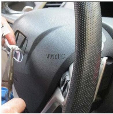 High quality ABS Silver Car Steering Wheel Emblem Badge H logo Fit for Honda civic Auto accessories Car Styling emblem
