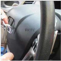 Insignia del emblema del volante del coche de plata ABS de alta calidad con el logotipo H adecuado para Honda civic accesorios para el Diseño del coche