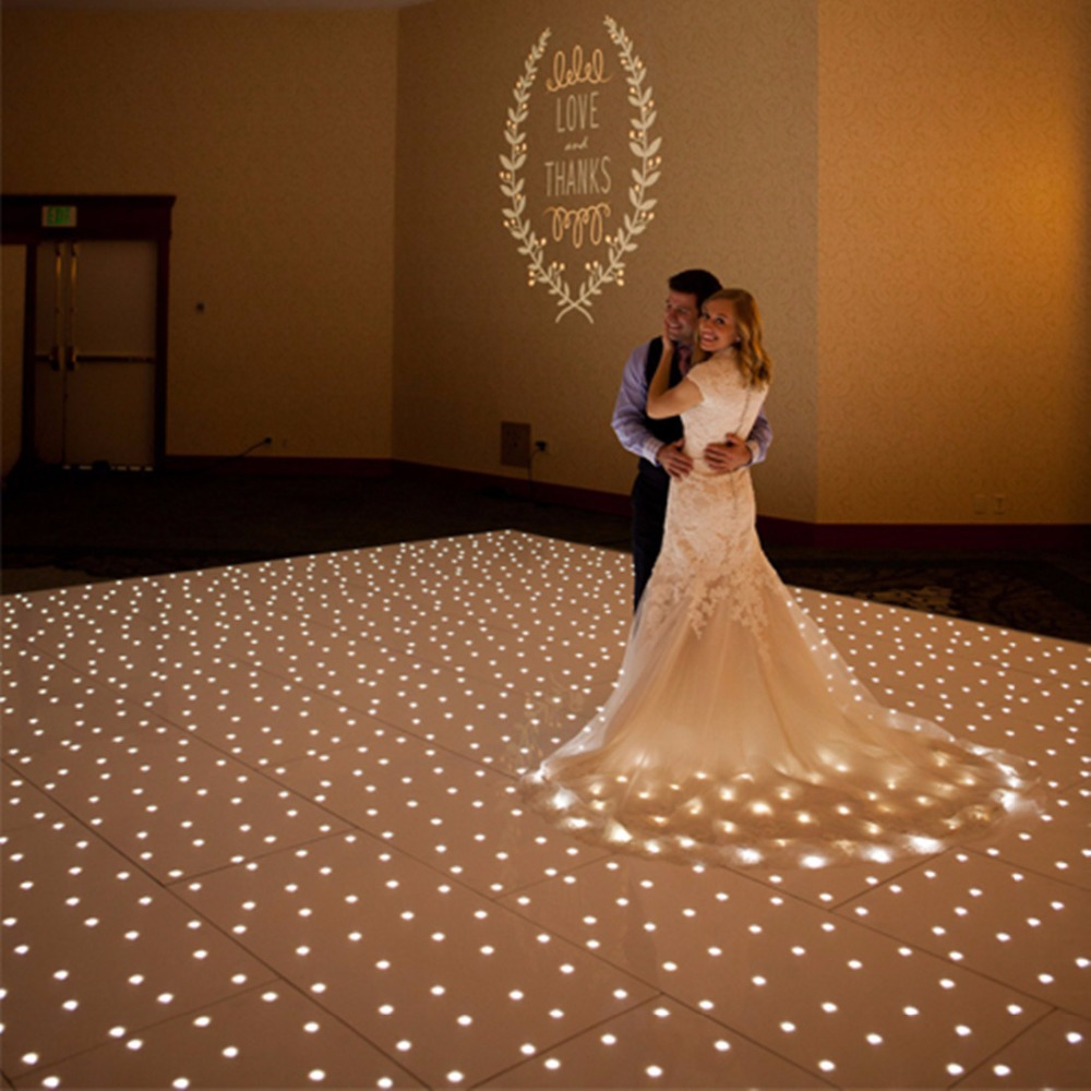 26*26ft  White Star Light Starlit RGB Dance Floor Wedding Party With Flight Case Double Clear Price Only Ship To USA