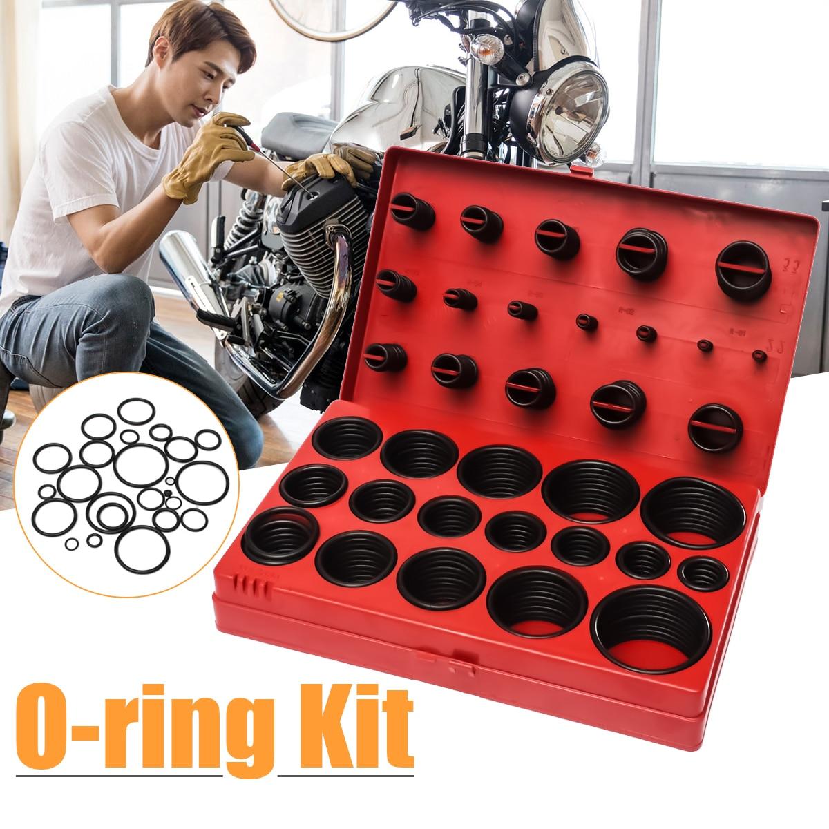 419 stücke Assorted O Ring Gummi Dichtung Sortiment Set Kit Garage Sanitär Mit Fall für Allgemeine Installateure Mechanik Werkstatt