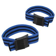 2Pcs Blood Flow Restriction Bands Belt Occlusion Tourniquet Training Biceps Fitness Gym