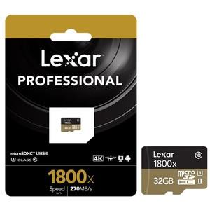 Image 5 - 100% 원래 lexar 마이크로 sd 카드 1800x tf 플래시 메모리 카드 32 gb sdxc 270 메가바이트/초 카타오 드 memoria 클래스 10 u3 microsd 카트