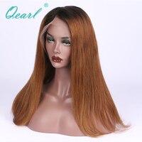 Ombre 1B/30 # de Cheveux Humains Perruques Cheveux de Bébé 150% Densité Deux Tons Foncé Racine Avant de Lacet de Cheveux Humains perruques