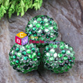 Colorful 20MM 100pcs green/light green Rainbow color Chunky Resin Ball Rhinestone Beads for Chunky Kid Necklace Jewelry