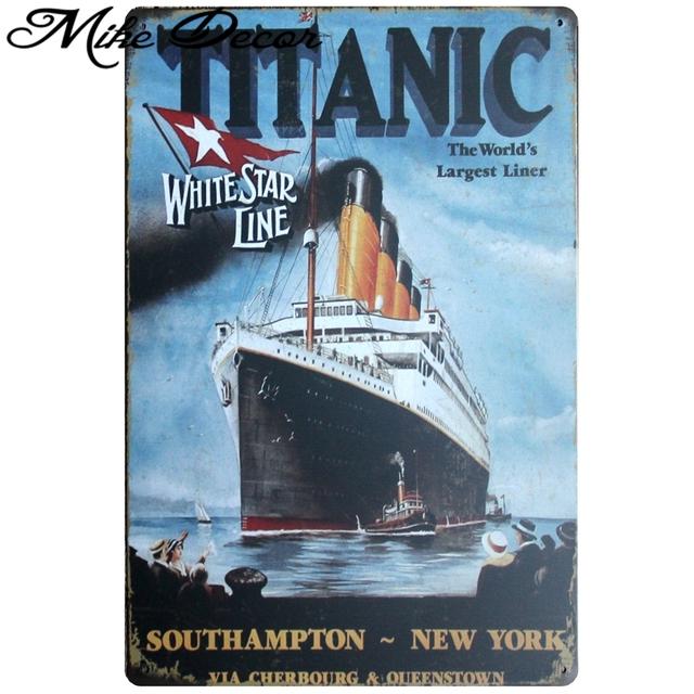 Titanic Retro Metal Posters Pub Home Cinema Bar Nostalgia Mural Painting 20×30 Cm Aa-724