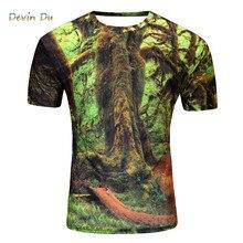 2018 Brand New Summer Designer 3D Printed T Shirt Men S Short Sleeve Tshirt Creative forest