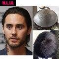 """100% Европейские виргинские человеческие волосы парик для мужчин с прозрачной Тонкой кожи PU, 10 """"x 8"""" Прямые волосы пьесы для мужчин от NLW"""