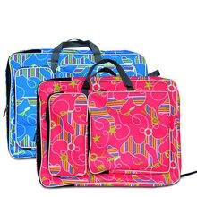 Moda colorida crianças arte saco de desenho ferramentas esboço placa de desenho saco lona arte escola saco para crianças