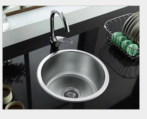 The single slot 304 stainless steel kitchen sink circular single ...