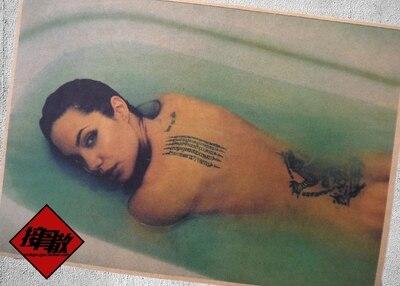 Le Bain Dos Tatouage Beaute Angelina Jolie Actrice Americaine