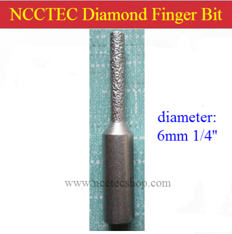 6mm 1/4'' straight diamond vacuum Brazing brazed router finger bit with 1/2 Shank FREE shipping | marble granite seam knife no 13 vacuum brazed diamond router bits with 1 2 shank for stone router cutter for granite