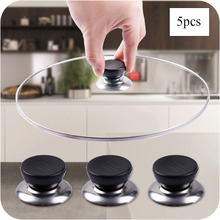 цена на 5pcs Utensil Pot Pan Lid Cover Circular Holding Knob Screw Handle Universal Kitchen Cabinet Handles Knobs Replacement Cookware