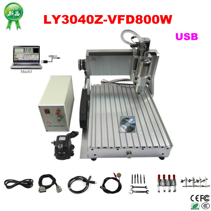 CNC Router wood CNC engraving Machine CNC 3040Z-VFD800W 3axis USB for wood working with ball screw 4axis cnc router 3040z vfd800w engraving machine cnc carving machine cnc frame assembled