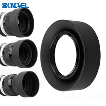 49mm 52mm 55mm 58mm 62mm 67mm 72 77mm 3 Stage 3 in1 Collapsible Rubber Foldable Lens Hood for sony canon nikon DSIR Lens camera