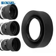 49mm 52mm 55mm 58mm 62mm 67mm 72 77mm 3 fase 3 em 1 capuz de lente dobrável para câmera, de borracha para câmera da lente de sony canon nikon dsr